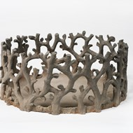 2006, Branches, woodfired red clay(50x30 cm)